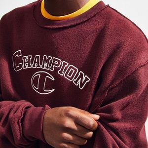 Champion UO Exclusive Embroidered Inside Out Crew